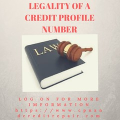 LEGALITY OF A CREDIT PROFILE NUMBER