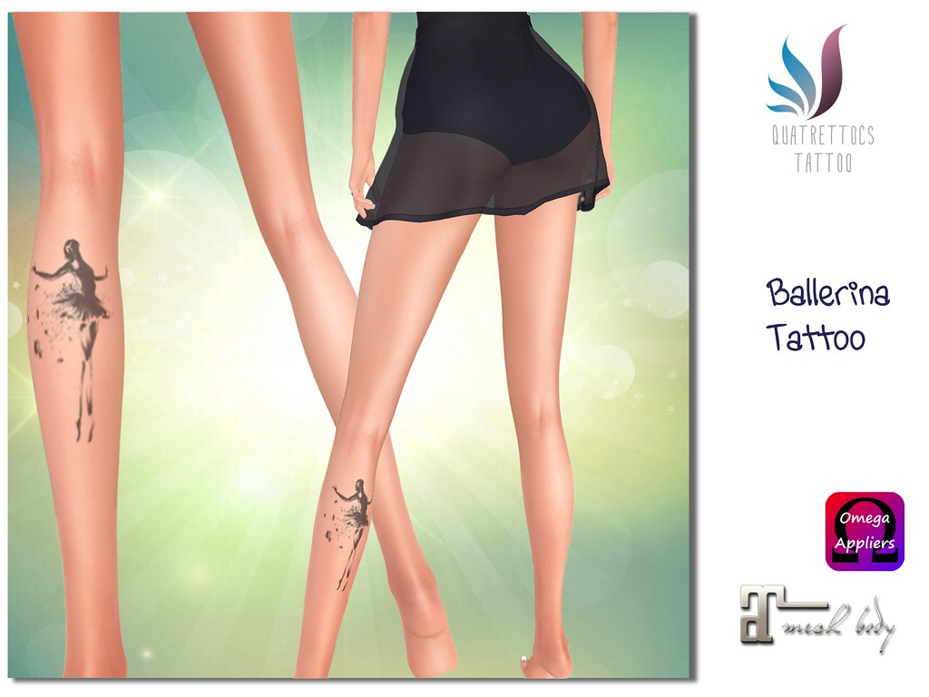 Ballerina Tattoo - SecondLifeHub.com