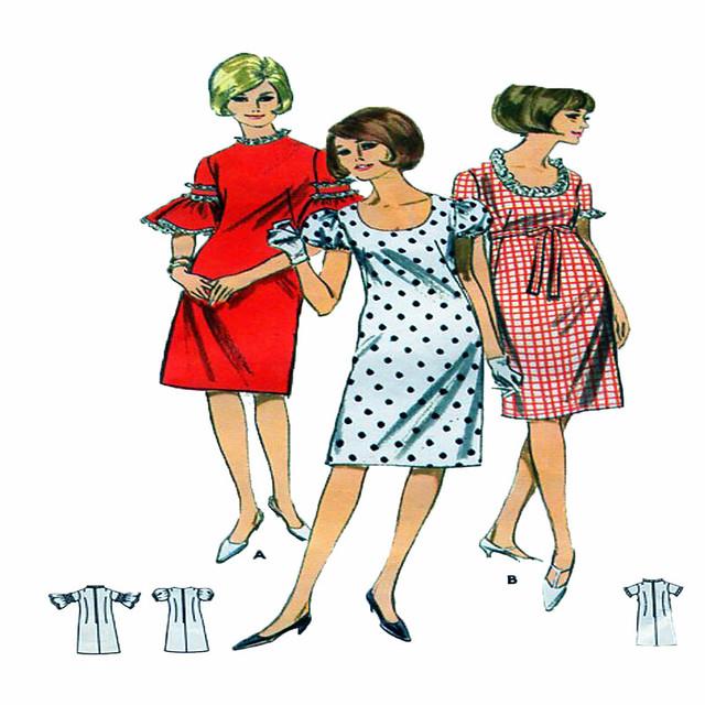 Butterick 3912 60s dress pattern