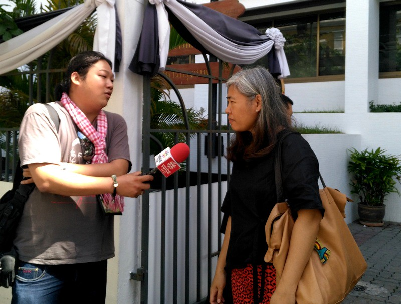 Jitra gave interview after the Military Court acquitted her charge under NCPO Announcement no. 41/2014