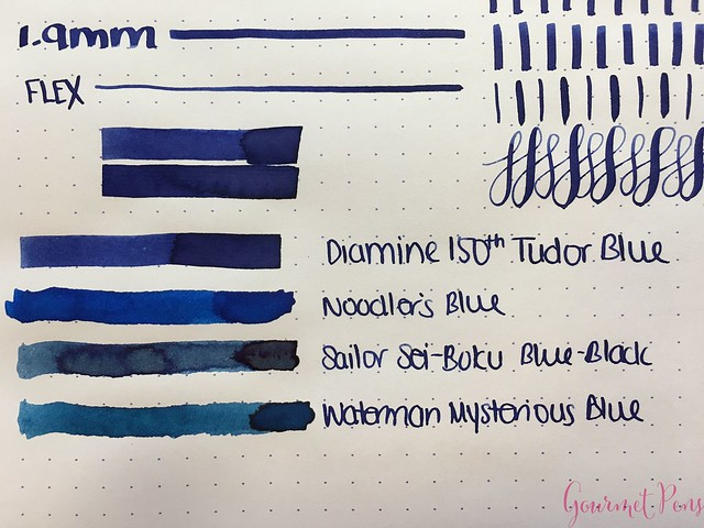 Ink Shot Review Diamine Anniversary Tudor Blue @AppelboomLaren 4
