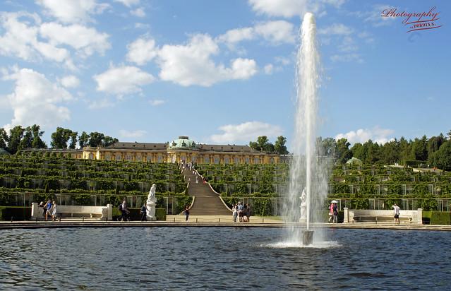 Sanssouci Palace and terrace gardens