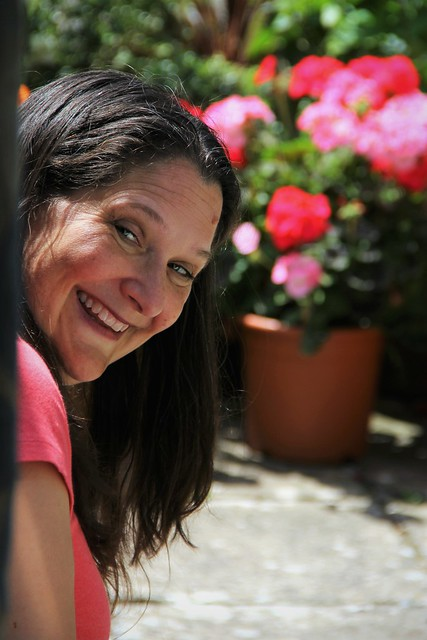 Canon EOS 60D - Smiling Summer Lisa - My beautiful wife in the garden