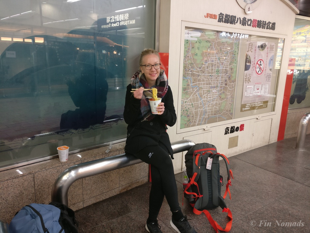 budget travel cup noodle japan