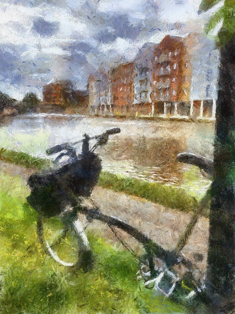 Brompton on the canal painting