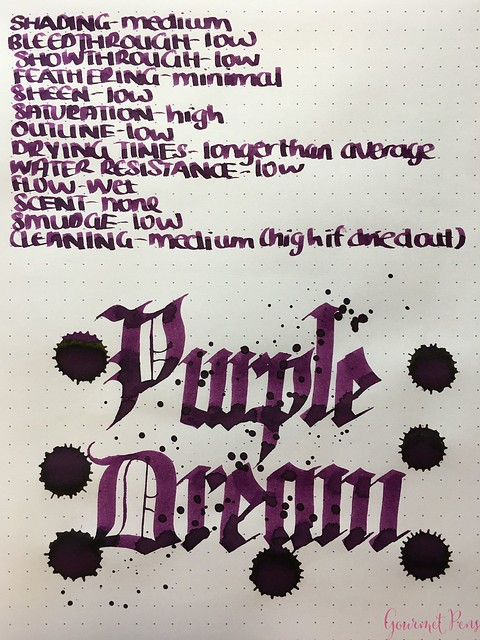 Ink Shot Review Diamine Anniversary Purple Dream @AppelboomLaren 7
