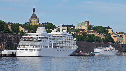 The cruise ship Silver Whisper in Stockholm