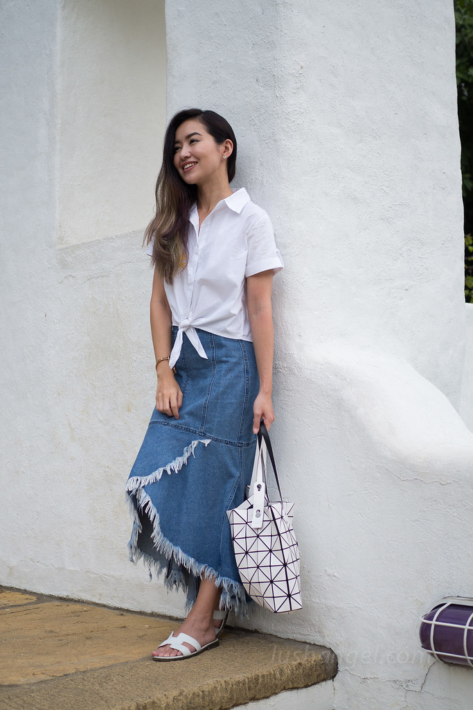 uneven-denim-skirt