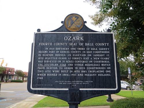 Ozark Fourth County Seat of Dale County Marker (HCC) Ozark AL