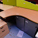 Beech k shape desk 16x12 E130