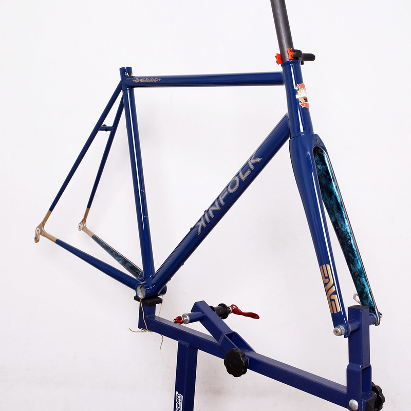 KINFOLK Road Frame & ENVE Fork Painted by Swamp Things