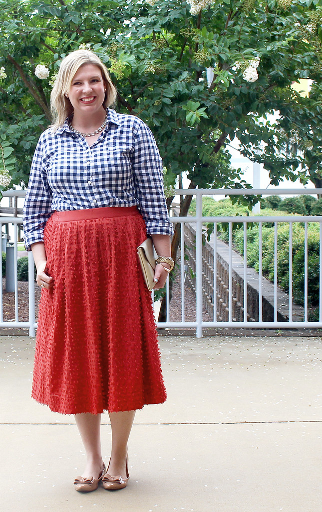 red midi skirt and navy gingham 5_zpsmtut9woa