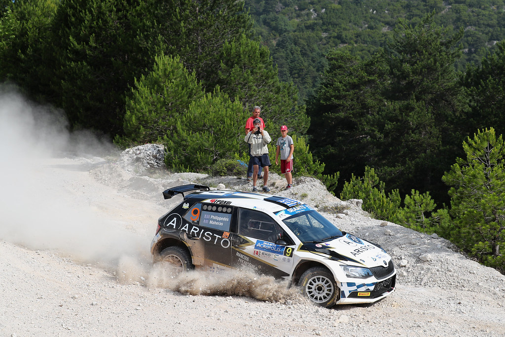 09 PHILIPPEDES George (grc) and MAHAERAS Leonidas (grc) action during the European Rally Championship 2017 - Acropolis Rally Of Grece - From June 2 to 4 - Photo Gregory Lenormand / DPPI