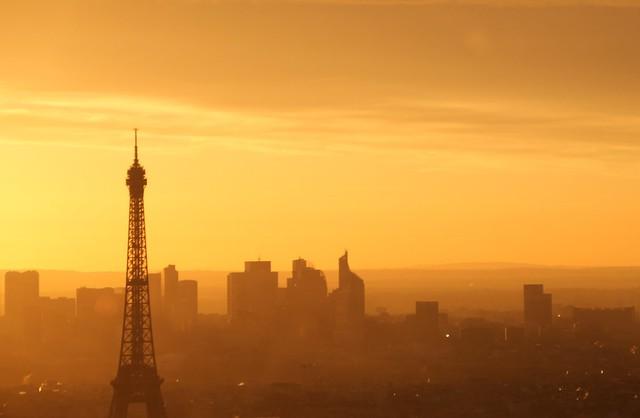 Paris France Coucher de, Canon EOS 550D, Sigma 18-200mm f/3.5-6.3 DC OS HSM [II]