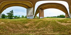 Schildescher Viaduct in Bielefeld Panorama