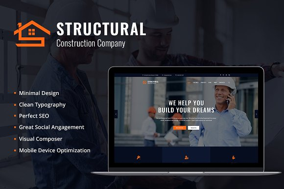 Structural v1.0 – Construction WP Theme