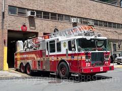 FDNY Firehouse Ladder 19 Fire Truck, Morrisania, Bronx, New York City