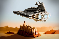 Star Destroyer over Jedha City