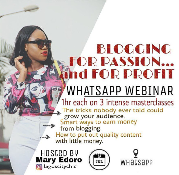 Blogger webinar in Lagos, Blogger programme, Mary Edoro, Lagos city chic, Lagos blogger workshop,
