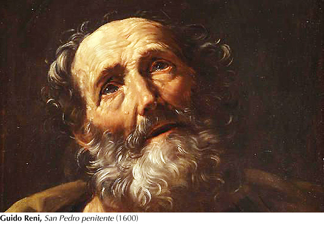 Guido Reni, lágrimas de S. Pedro (1600)