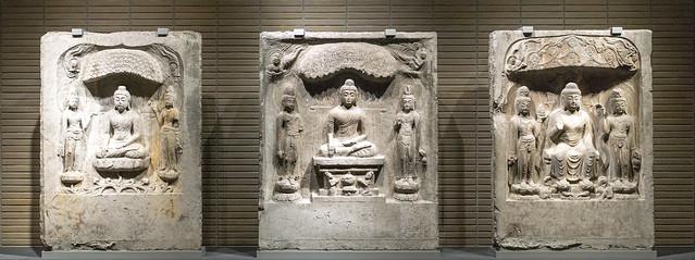 Buddha Triad in a Niche
