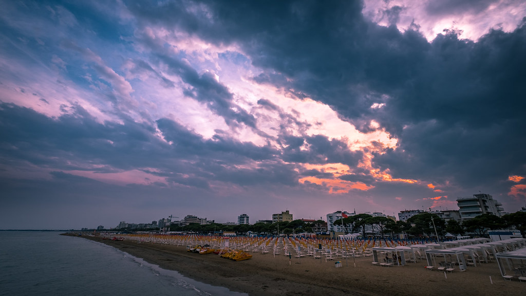 Sunset - Lignano Sabbiadoro, Italy - Travel photography