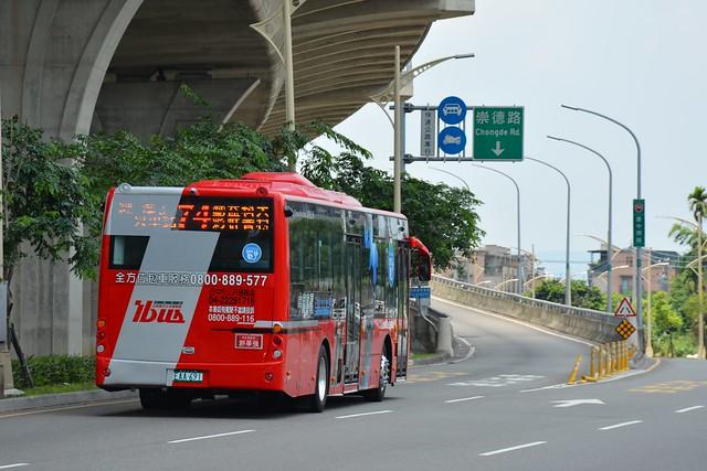 台中公車74路駛上台74臺中環線