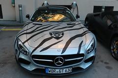 Mercedes AMG GT-S zebra