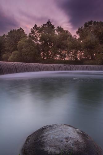 waterfall evening belarus minsk беларусь водопад long exposure hitech filter gradient sunset sunrise