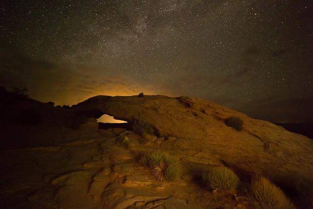 Mesa Arch at Night ...