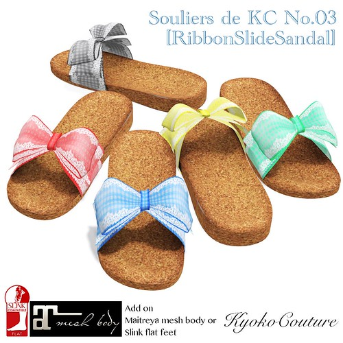 Souliers de KC No.03 [RibbonSlideSandal]