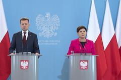 Konferencja prasowa Premier B. Szyd?o i Ministra M. B?aszczaka (28.06.2017)