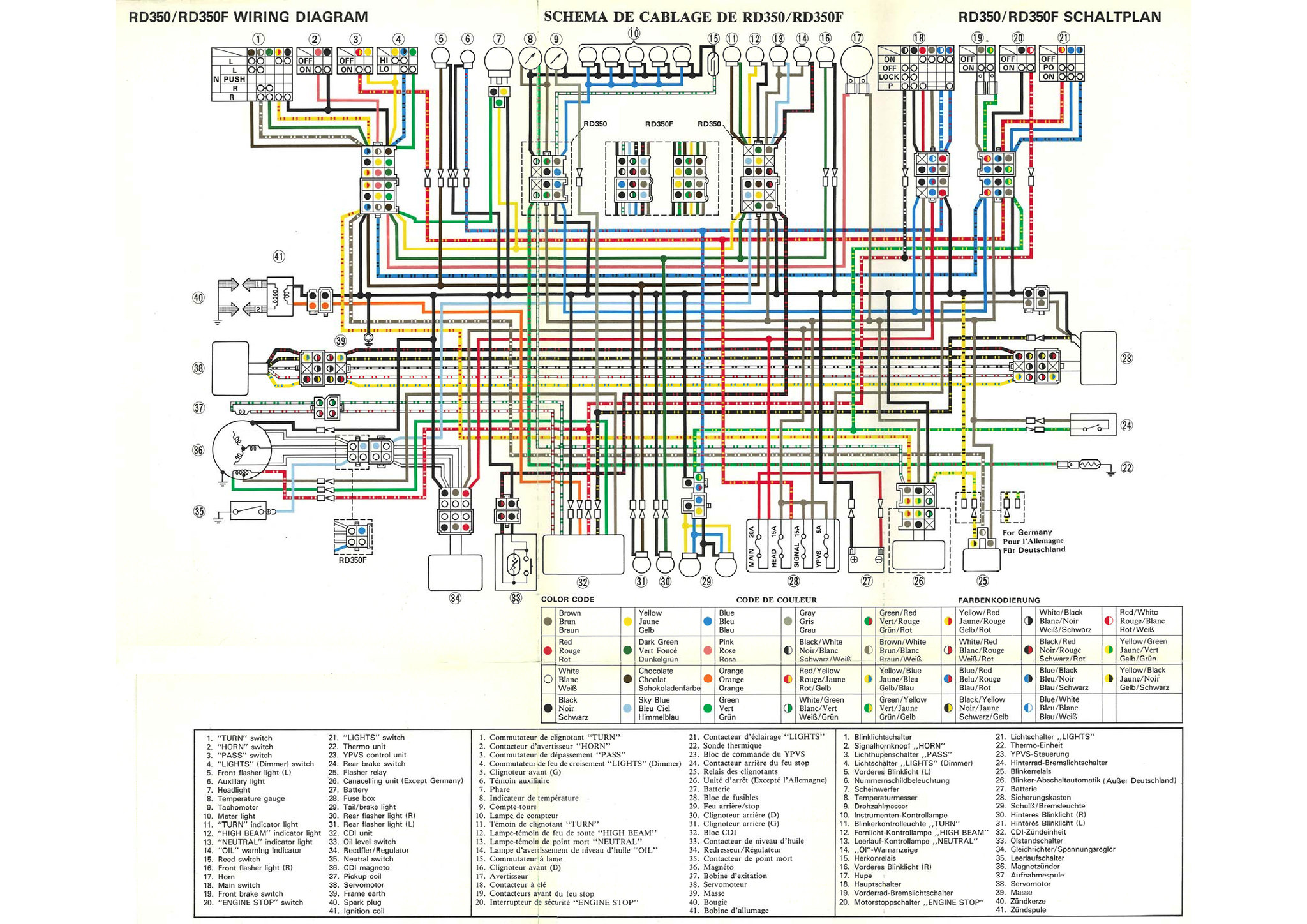 85 Canadian Electronic Tach Wiring - RZ/RD 350 & Misc. 2 ...