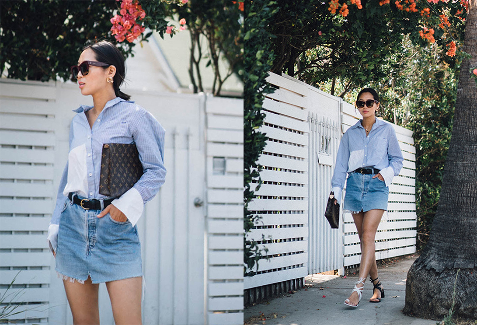 how-to-style-denim-skirt-2017