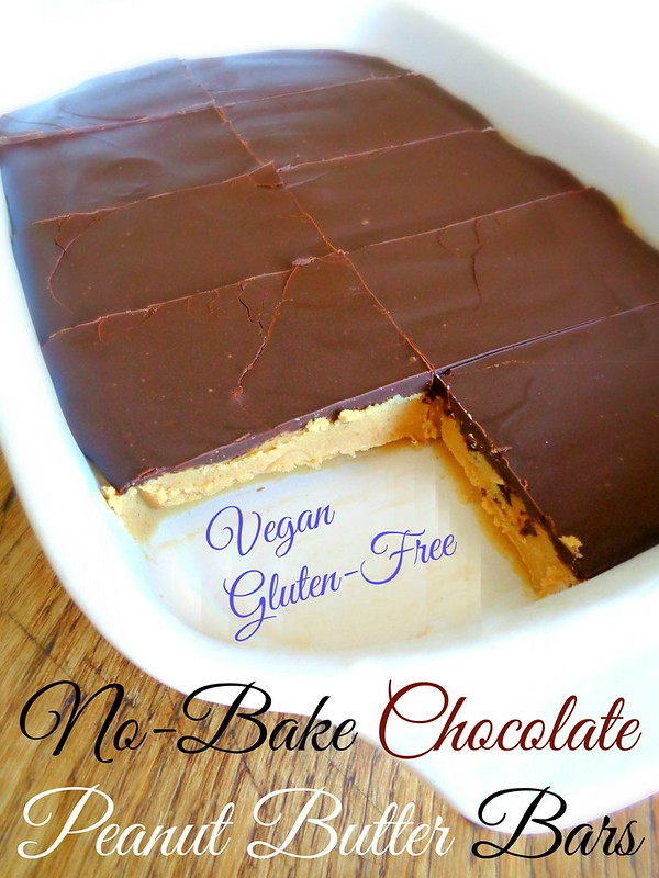 No-Bake Chocolate Peanut Bars (Vegan & Gluten-free)