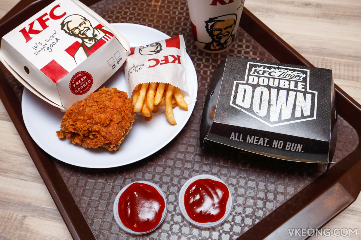 KFC Zinger Burger and Double Down