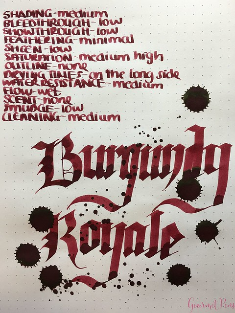 Ink Shot Review Diamine Anniversary Burgundy Royale @AppelboomLaren 7