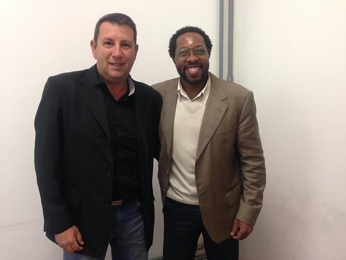 Vice Prefeito de Silveira, João Batista, em reunião com o assessor técnico de gabinete Claudio da Silva - 02/06
