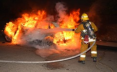 LAFD Quenches Pacoima Auto Fire