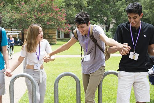 MAST Students Participate in Dyadic Encounter, Trust Walk