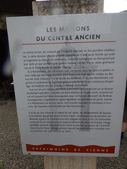 Photo of Les Maisons du Centre Ancien white plaque