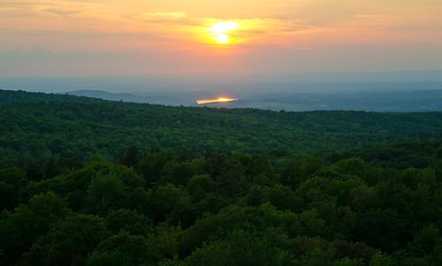 firetower nikon nikond7000 upstateny hiking ihikeny opt outside outdoors nature sunset sunsetporn