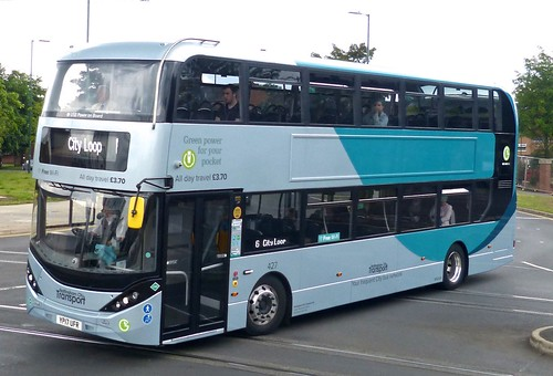YP17 UFR 'Nottingham City Transport' No. 427 Scania N280UD / Alexander Dennis Enviro 400CBG City /1 on 'Dennis Basford's railsroadsrunways.blogspot.co.uk
