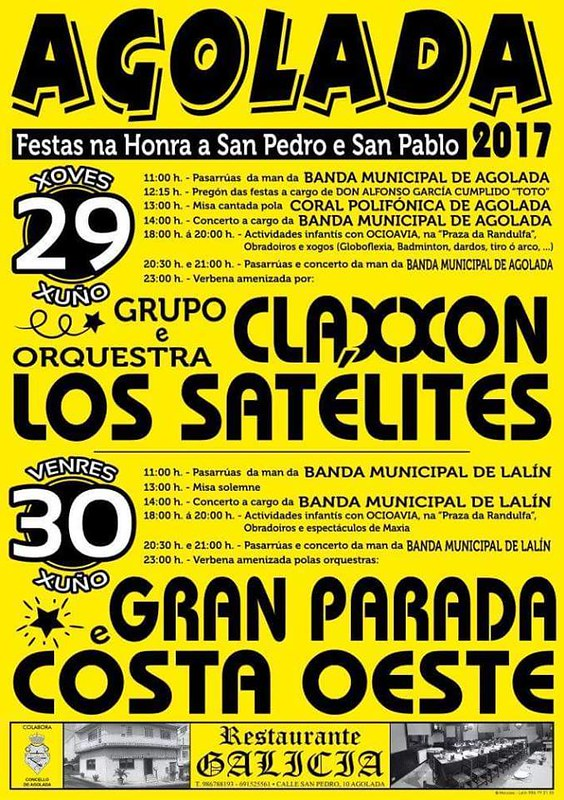 Agolada 2017 - Festas de San Pedro - cartel