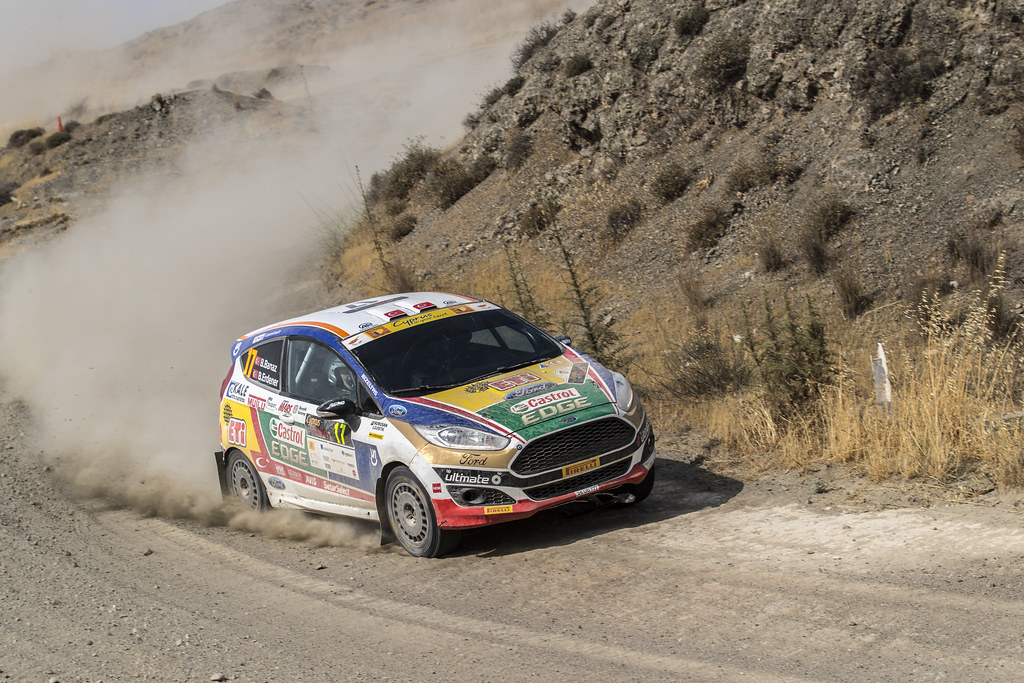 17 BANAZ Bugra (tur) and ERDENER Burak (tur) CASTROL FORD TEAM TÜRKIYE FORD FIESTA R2 action during the 2017 European Rally Championship ERC Cyprus Rally,  from june 16 to 18  at Nicosie, Cyprus - Photo Gregory Lenormand / DPPI
