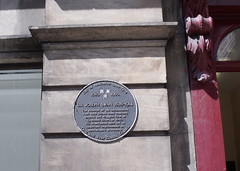 Photo of Joseph Swan black plaque