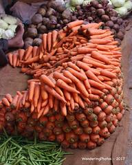Organised carrots - Devaraja Market Mysore Karnataka India