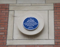 Photo of Mayfair Ballroom and Led Zeppelin blue plaque