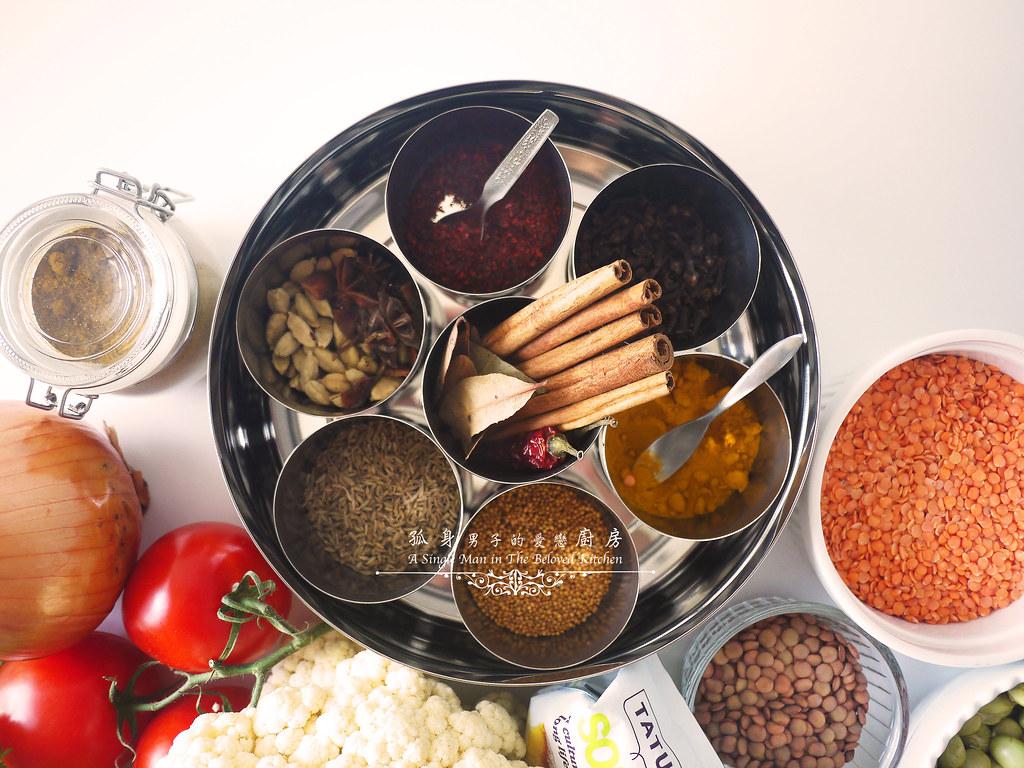 孤身廚房-Staub媽咪鍋煮超滿的印度蔬食花椰菜咖哩3