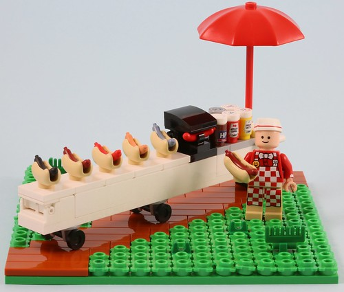 How do you like your LEGO hotdog?